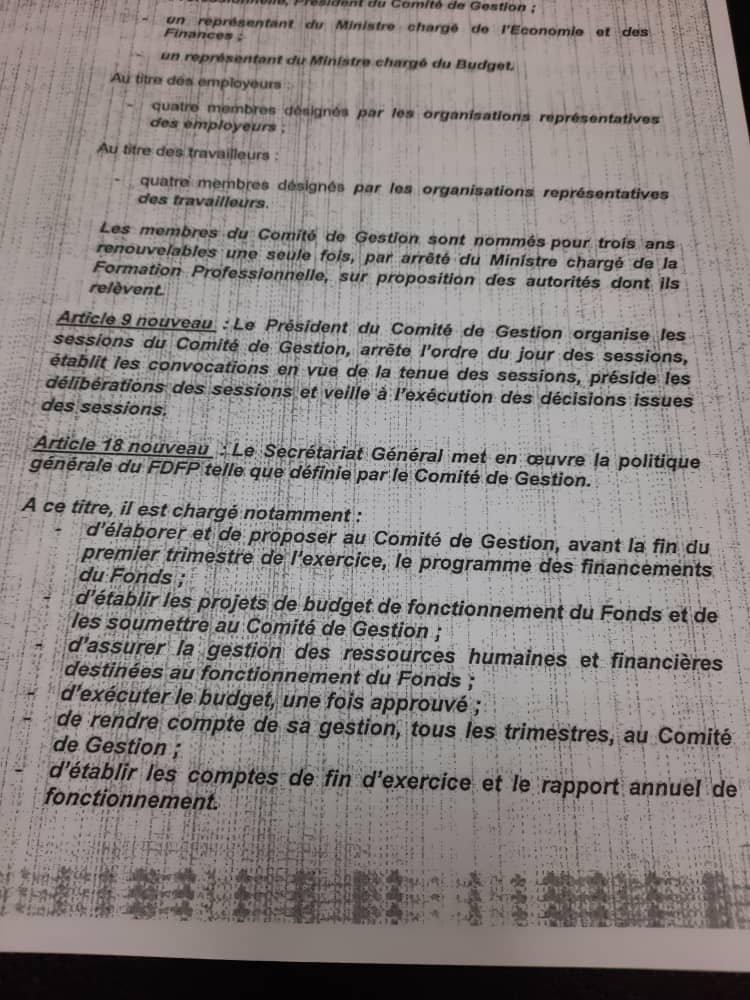 Côte d'Ivoire-FDFP: Le PCG peut-il suspendre le SG?