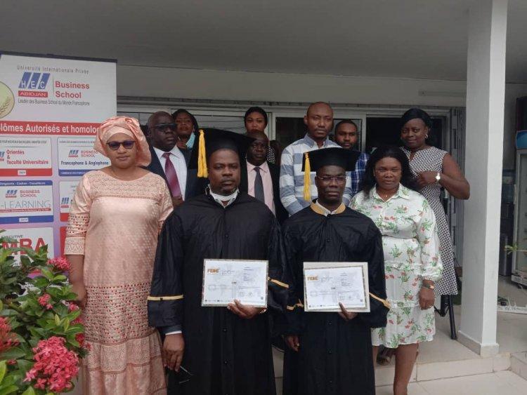 Côte d'Ivoire-HEC Abidjan : 2 hauts cadres de banque décrochent leur MBA